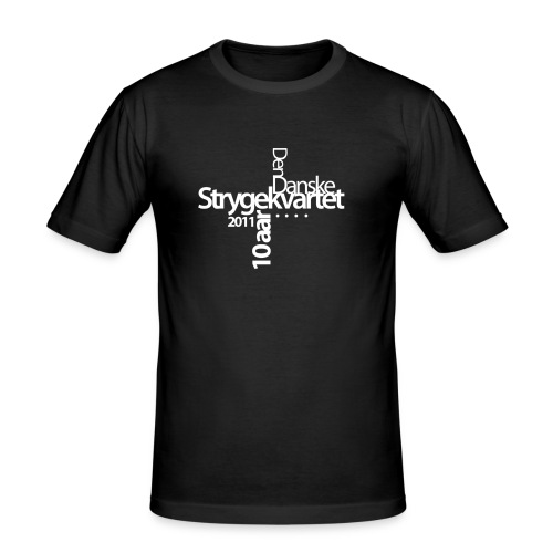 logo dansk hvid - Men's Slim Fit T-Shirt