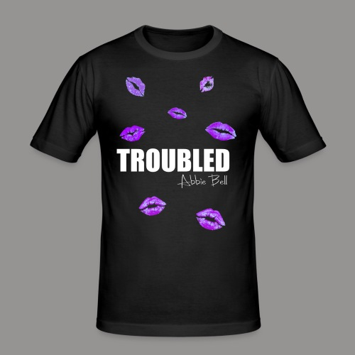TROUBLED KISSES T-shirt - Men's Slim Fit T-Shirt