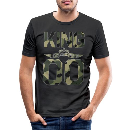 King - Queen Geschenk Geschenkidee - Männer Slim Fit T-Shirt