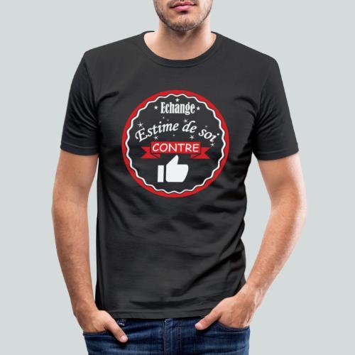 Echange estime de soi contre des Likes - T-shirt près du corps Homme