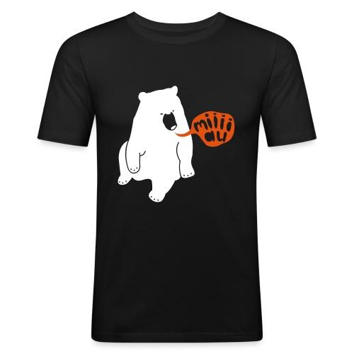 Bär sagt Miau - Männer Slim Fit T-Shirt