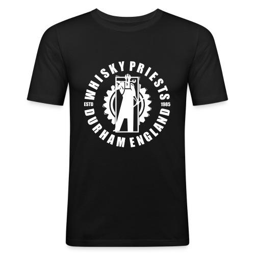 IRON MAN LOGO WHITE TRANS - Men's Slim Fit T-Shirt