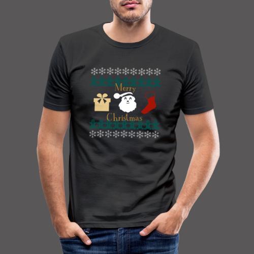 Merry Christmas - Männer Slim Fit T-Shirt