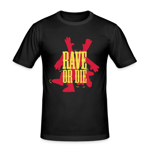 Rave or Die! Dancing figure - Men's Slim Fit T-Shirt