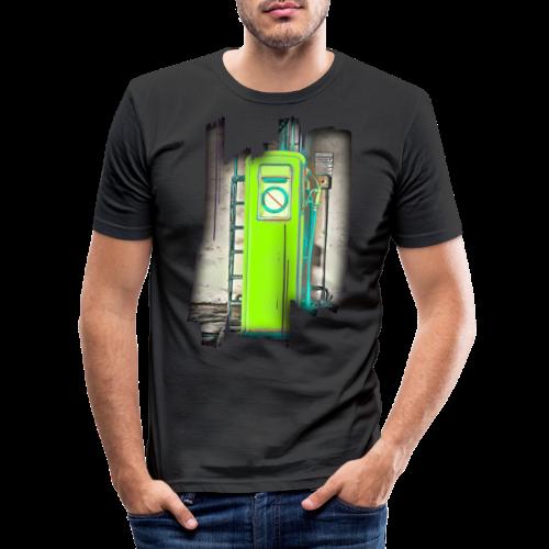 Vintage gas station - Men's Slim Fit T-Shirt