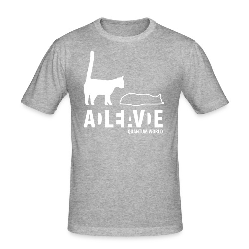 new uncertainty - Mannen slim fit T-shirt