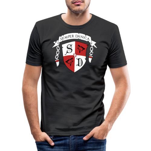 SD logo - hvide lænker - Herre Slim Fit T-Shirt