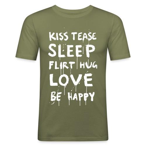 BeHappy - Miesten tyköistuva t-paita