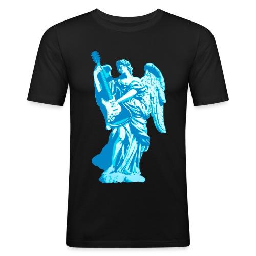 Engel 2018 blauw - Mannen slim fit T-shirt