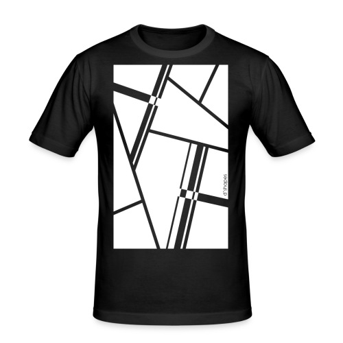 d shapes blocks white - Maglietta aderente da uomo