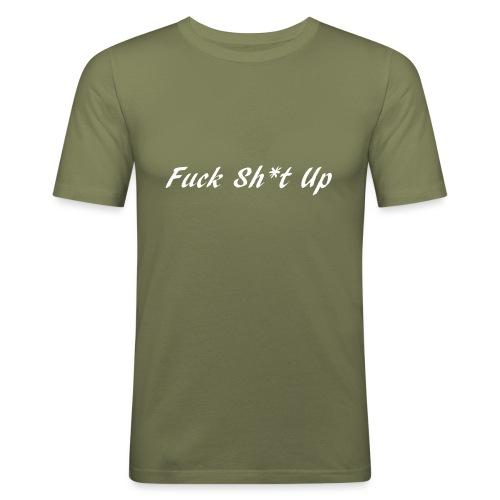 Fuck_Sh-t_Up_W - Slim Fit T-shirt herr