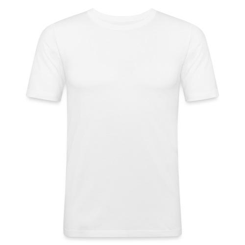 EddyHardcore logo nek transparant png - Mannen slim fit T-shirt
