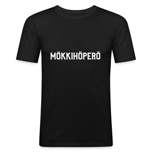 mokkihopero - Miesten tyköistuva t-paita