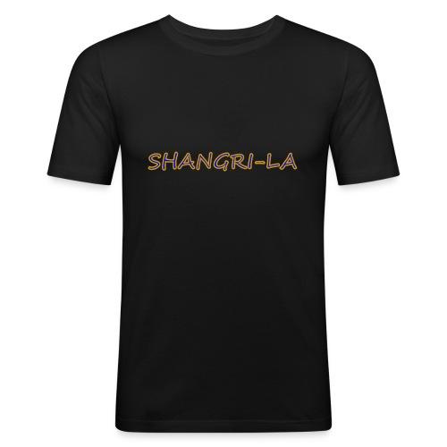 Shangri La goldblau - Männer Slim Fit T-Shirt
