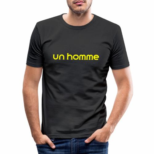 Un homme - Mannen slim fit T-shirt
