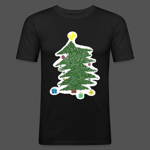 Christmas Kids-Drawing - Männer Slim Fit T-Shirt