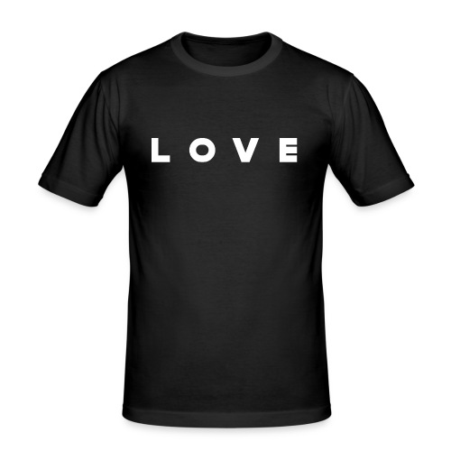 LOVE© - Männer Slim Fit T-Shirt