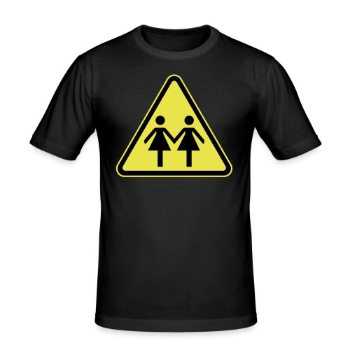 ACHTUNG LESBEN POWER! Motiv für lesbische Frauen - Männer Slim Fit T-Shirt