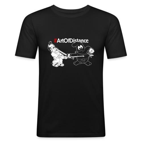 Art of Distance - Kampfkunst Comic - Männer Slim Fit T-Shirt