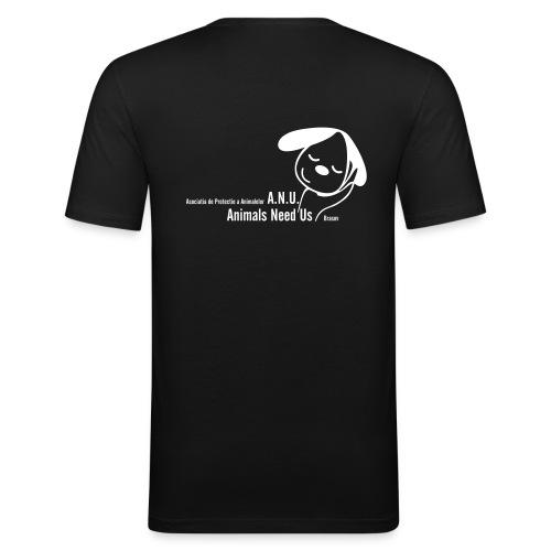 anu vector T - Männer Slim Fit T-Shirt