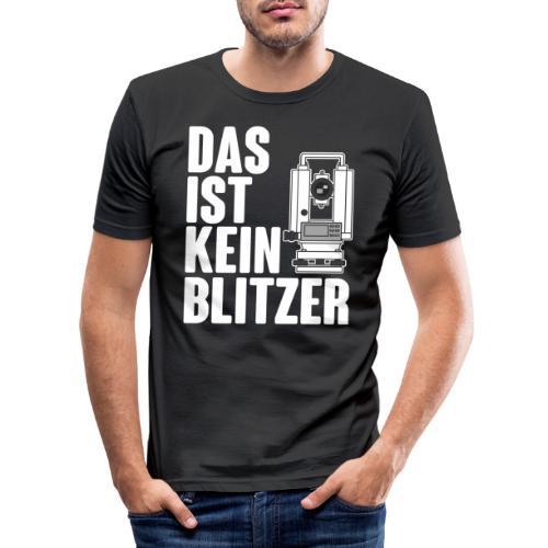 Vermessungstechniker Theodoloit Blitzer Geomatiker - Männer Slim Fit T-Shirt
