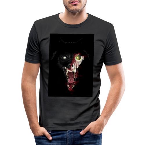 Zombie Wolf - T-shirt près du corps Homme