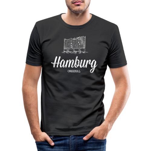 Hamburg Original Elbphilharmonie - Männer Slim Fit T-Shirt