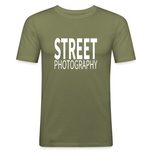 Street Photography T Shirt - Maglietta aderente da uomo