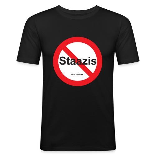 Staazis Verboten - Männer Slim Fit T-Shirt