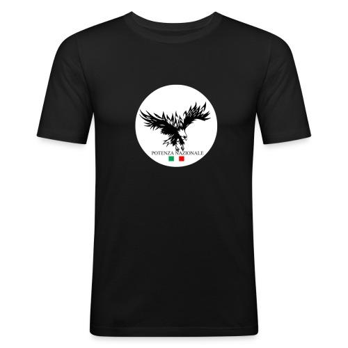 1POTENZANAZIONALE - Maglietta aderente da uomo