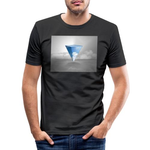 Geometrie Grey - Männer Slim Fit T-Shirt