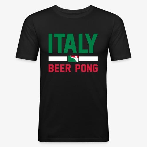 Italy Beer Pong - Männer Slim Fit T-Shirt