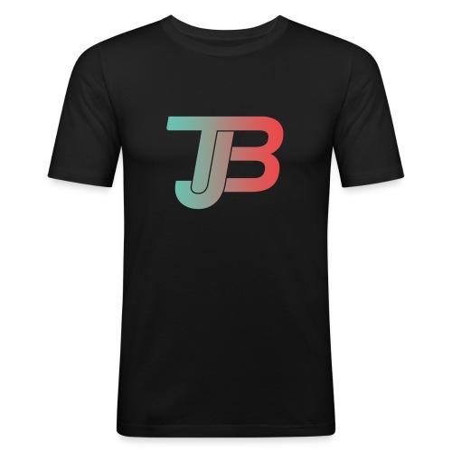 TJB Logo Gradient - Männer Slim Fit T-Shirt