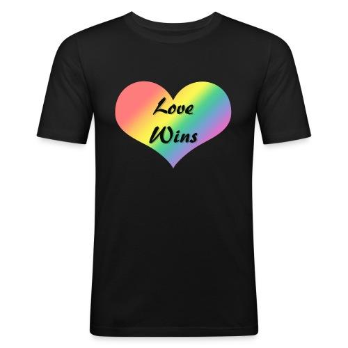 Love Wins - Men's Slim Fit T-Shirt