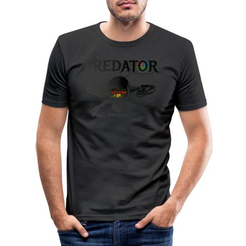 predator fishing black de - Männer Slim Fit T-Shirt