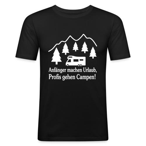 Camping Geschenk Campen Gehen Urlaub Spruch - Männer Slim Fit T-Shirt