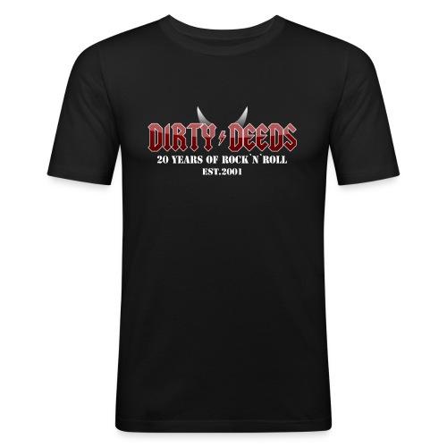 Dirty Deeds 20 Anniversary Druck f dunkel - Männer Slim Fit T-Shirt