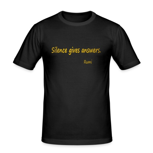 Silence - Men's Slim Fit T-Shirt