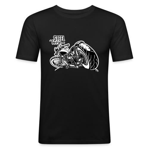 0894 STEEL HORSE - Mannen slim fit T-shirt