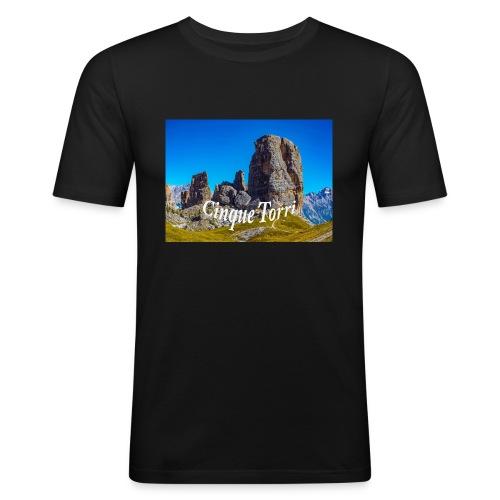 Cinque Torri - Männer Slim Fit T-Shirt