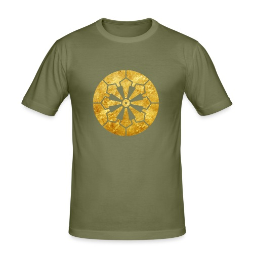 Sanja Matsuri Komagata mon gold - Men's Slim Fit T-Shirt