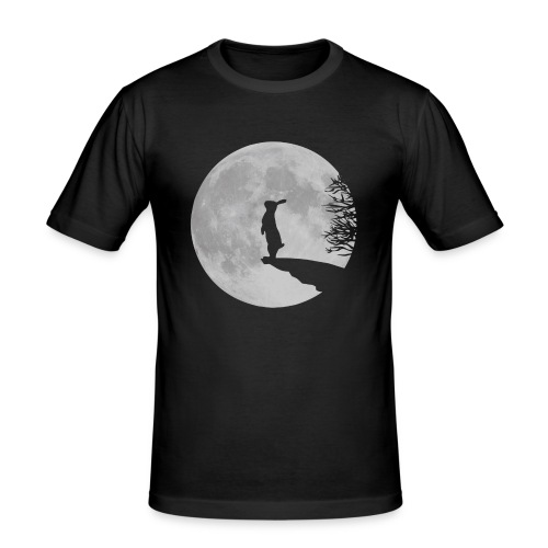 rabbit_wolf-png - Men's Slim Fit T-Shirt