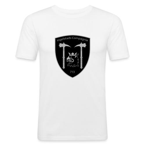 Kompanim rke 713 m nummer gray ai - Slim Fit T-shirt herr