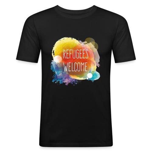 Refugees Welcome - Camiseta ajustada hombre