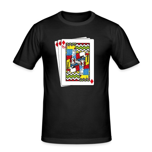 King Playing Card holding a Spraycan - slim fit T-shirt