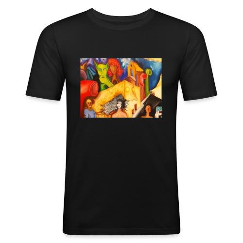 no_530 - Maglietta aderente da uomo