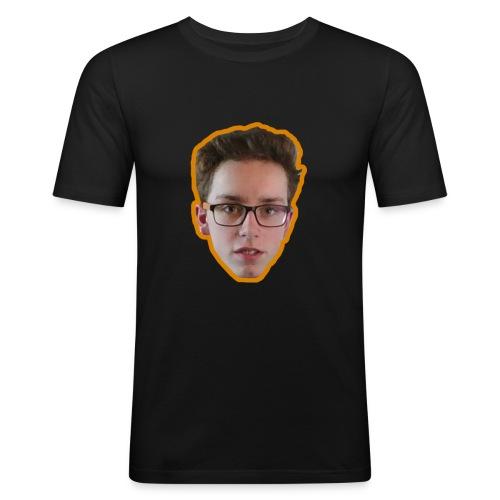 T-shirt met ginger hoofd op - Mannen slim fit T-shirt