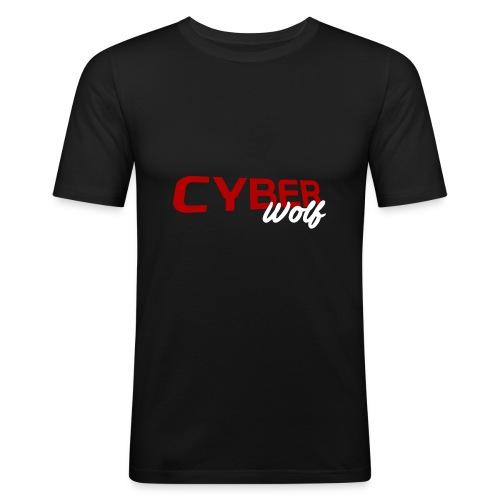 T-shirt Zwart - Mannen slim fit T-shirt