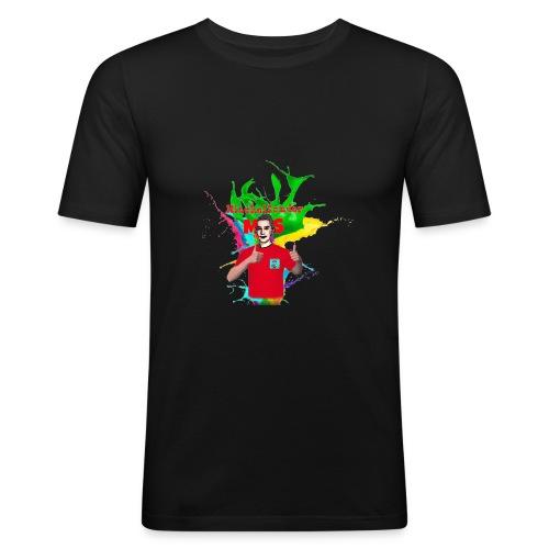 Mitchelsonder Iphonehoesje - Mannen slim fit T-shirt