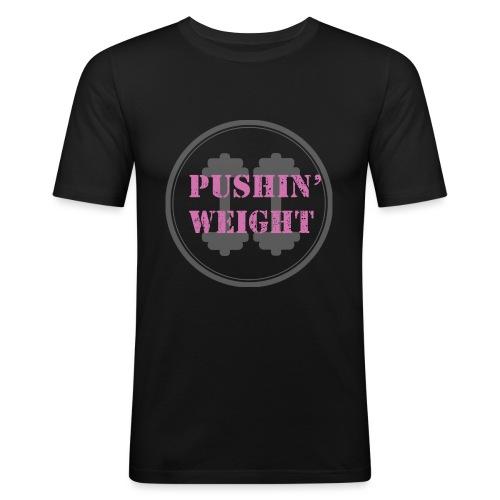 Pushing Weight pink - slim fit T-shirt